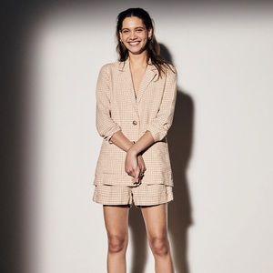 Madewell Linen Dorset Blazer & Shorts Set